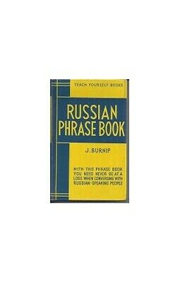 Russian Phrase Book (Teach Yourself) by Burnip, J. Hardback Book The Cheap Fast