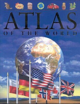 Atlas of the World (Children's Reference) by Steele, Philip Hardback Book The