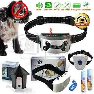 Rechargeable Citronella Dog Collar Anti Bark Train Mist Spray Stop Barking Usb