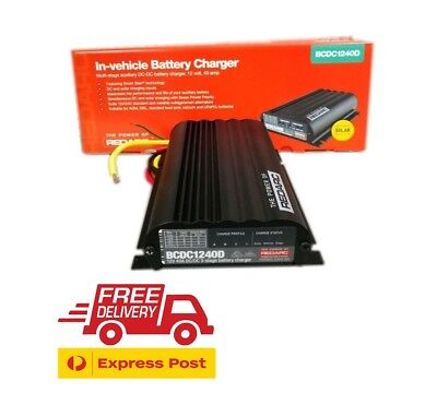 REDARC Battery Charger 12V 40A 3 Stage Auto BCDC1240D 4x4 AWD Camp Hilux Navara