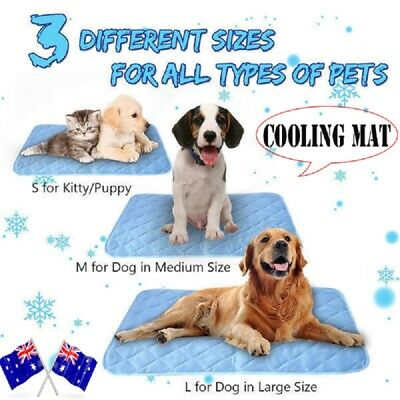 Summer Pet Puppy Dog Cat Cooling Mat Non-Toxic Cool Pad Cooling Bed Cusion AU