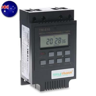 TM616 220V-240V LCD Digital Weekly Programmable Power Timer Time Relay Switch AU
