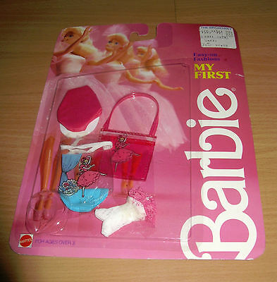 Vintage 1986 My First Barbie Easy-on Fashions Ballerina Accessories #1879
