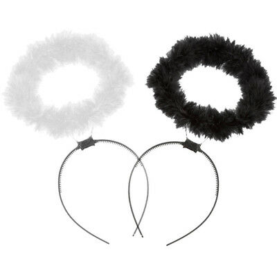 Feather Halo Headband Ring Angel Fairy Costume Hen Night Party Fancy Dress up H
