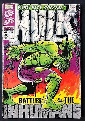 Incredible Hulk King-Size Special #1 Pretty Good Condition 1968