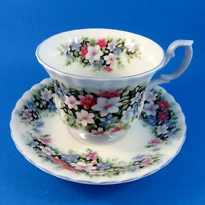Royal Albert Fragrance Series Clematis Tea Cup and Saucer Set