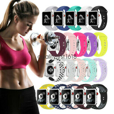Soft Silicone Sport Bracelet for Apple Watch Series 4 3 2 Band 40mm 44mm 38/42mm