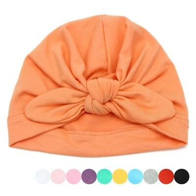 Baby Hat Lovely Newborn Girls Rabbit Ear Knot Hospital Cap Warm Cotton Beanie