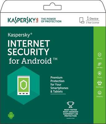 Kaspersky Internet Security 2019 Andriod Mobile Tablets 1 USER 1 Year Global Key