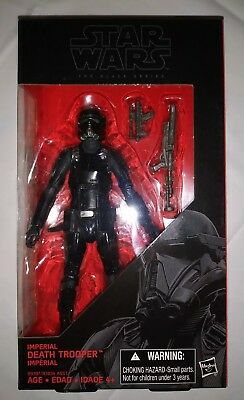 "STAR WARS BLACK SERIES 6"" Inch Imperial Death Trooper #25 NEW NIB"