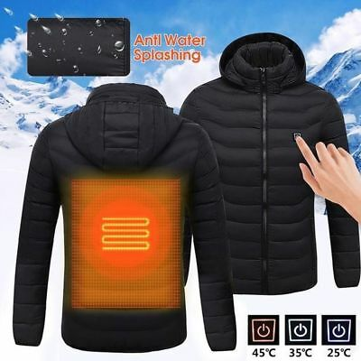 Men's USB Heated Vest Jacket Shawl Electric Battery Heating Winter Warmer Coats