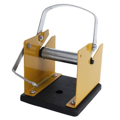 M2Y2 Yellow Black Metal Solder Wire Stand Holder Suppo
