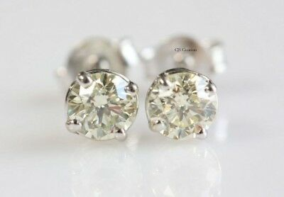062f42360323a ANTIQUE 1.6 CT Off White Round Moissanite Sterling Silver Solitaire ...