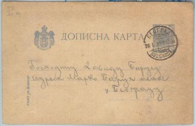 71358 - SERBIA - POSTAL HISTORY - STATIONERY  CARD Michel # P1 USED - VERY RARE!