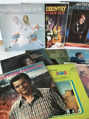 Lot Of 9 Classic Country Vinyl Records Good Condition from estate sale lot