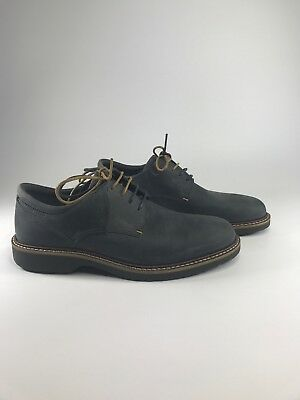 Ecco Men s Ian Casual Tie Oxford Shoes Leather Moonless Grey Size 39 M US 5- 9f24b5437e6