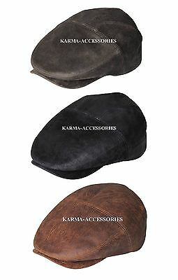 9fdd3459a03 KARMA ACCESSORIES EUREKA Leather Fedora Hat in Olive or Distress ...