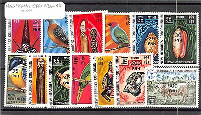 1977 New Hebrides-Franch Scott # 236 - 248 MNH Mint Never Hinged Stamps #80898