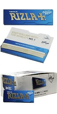 NEW Blue Rizla Rolling papers Standard size 60sheets/Booklet (1/2/5/10/20/50)pcs