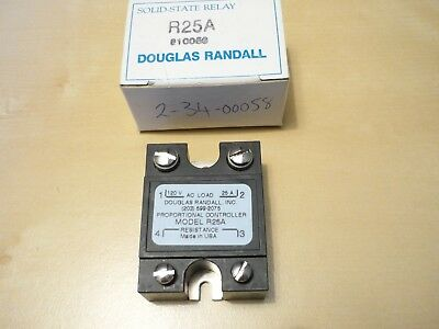Douglas Randall R25A Solid State Relay 120Vac 25A New