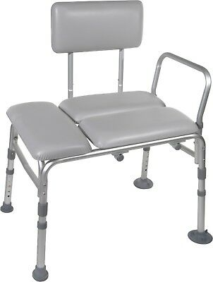 Deluxe Heavy-Duty Drive Padded Transfer Bench Bath Tub Shower Seat 400lb - NEW