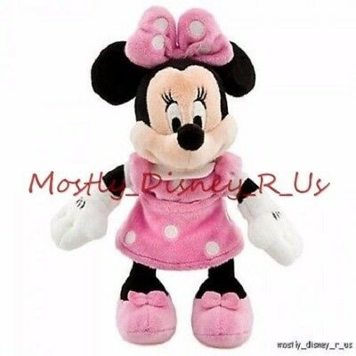 Neuf Disney Magasin Clubhouse Minnie Mouse Sac Haricot Peluche 22.9cm Rose