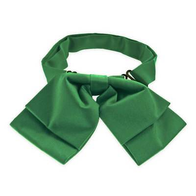 TieMart Green Floppy Bow Tie