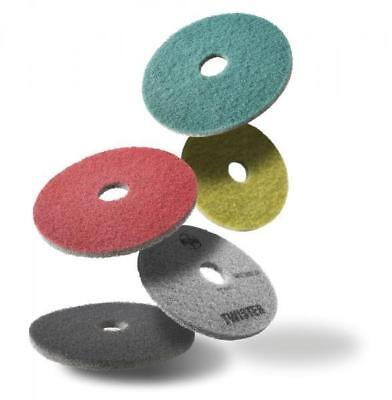 """HTC Twister Diamond Floor Cleaning Pads 27"""" Yellow/Green"""