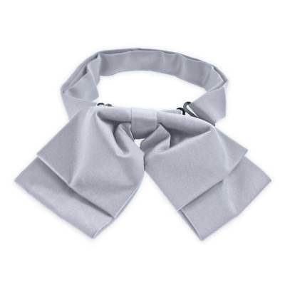 TieMart Light Steel Floppy Bow Tie