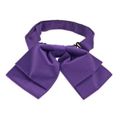 TieMart Medium Purple Floppy Bow Tie