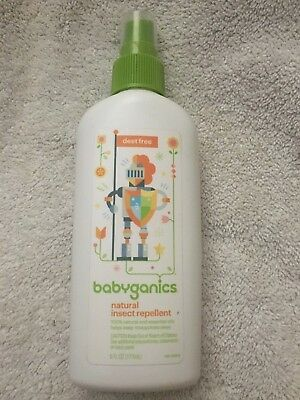 babyganics Essential Oil Natural Insect Repellent 6 oz Exp. 2/2020 Unsealed
