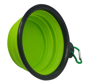 Collapsible Dog Bowl Food Silicone BPA  Foldable Expandable Travel
