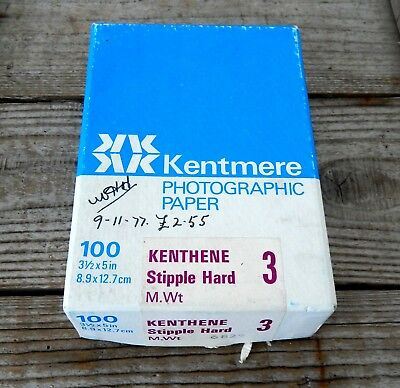 Vintage Pack Kentmere Photographic Photo Paper Approx 88 Sheets - 8.9 x 12.7cm