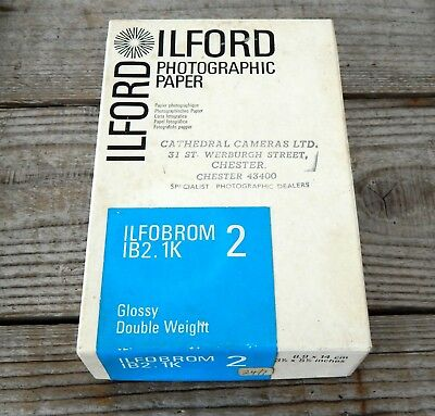 Vintage Pack Ilford Photographic Photo Paper Approx 75 Sheets - 12.1 x 16.5cm