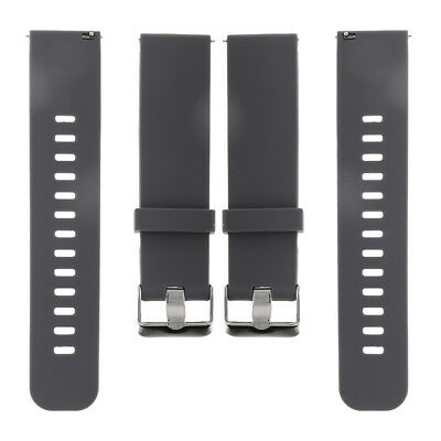 Gray Rubber Silicon Watch Band 18mm 22mm Wristwatch Strap Replacement Buckle