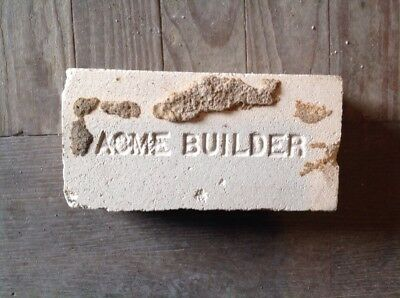 Antique Fire Brick Stamped **** Acme Builders  *********