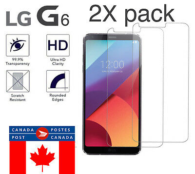 Premium Tempered Glass Screen Protector For LG G6 (2 Pack) FAST SHIPPING