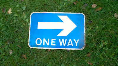 """Genuine, old, """"One Way"""" retired road sign"""