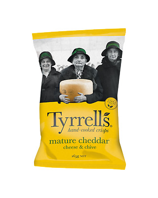 Tyrrells Crisps Mature Cheddar Cheese & Chives Chips 165g Other Drinks