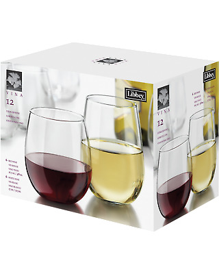 Libbey 12 piece Stemless Wine Set Accessories pack of 12