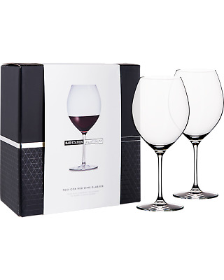 Bar Station Platinum Icon Red Wine Glasses 2 Pack Other Drinks pack (2)