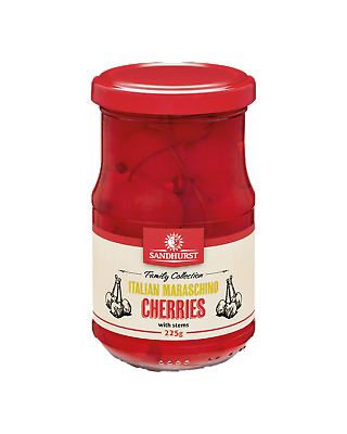 Sandhurst Maraschino Cherries 225g Food Snacks