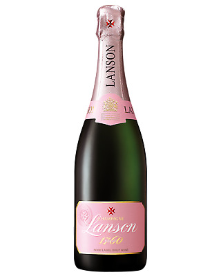 Lanson Brut Rose Champagne Sparkling 750mL case of 6