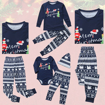 Family Christmas Pajamas Father Mother Daughter Son Matching Clothes Outfits