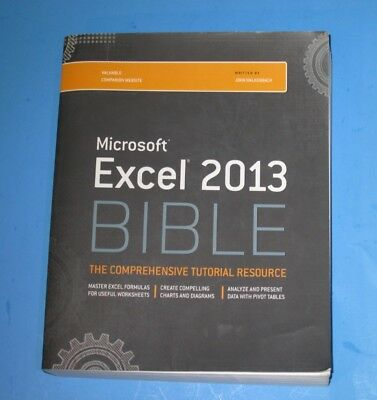 Microsoft Excel 2013 Bible, Book, the comprehensive tutorial resource