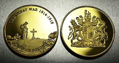 Brand New 24ct Gold Commemorative World War 1 Armistice/Remembrance Day Coin WW1
