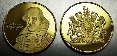 24ct Gold WILLIAM SHAKESPEARE Commemoratives. Albums/Collectors/Hunt NEW