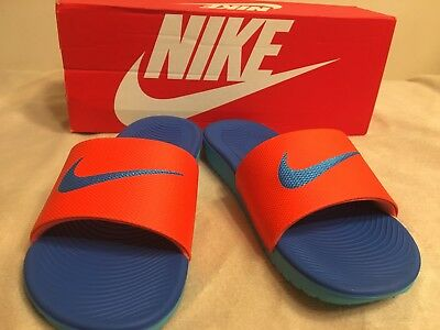 633f586a2c9ac Nike Kawa Slide Sandal Kids Youth Boy or Girl 3Y Orange Blue