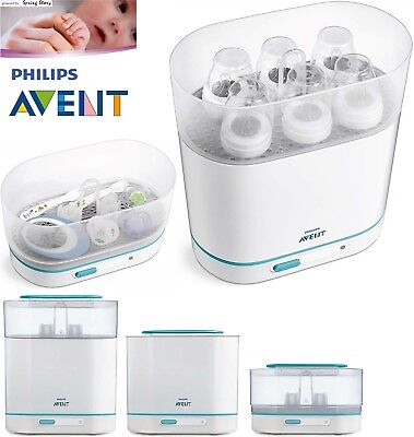 (END 27/11) Philips Avent Baby Electric Steam Steriliser 3-in-1 Fits 6 Bottles