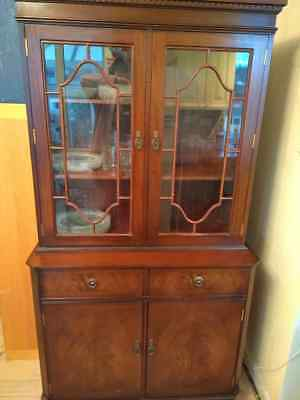 China Cabinet Flame Mahogany by Strongbow England